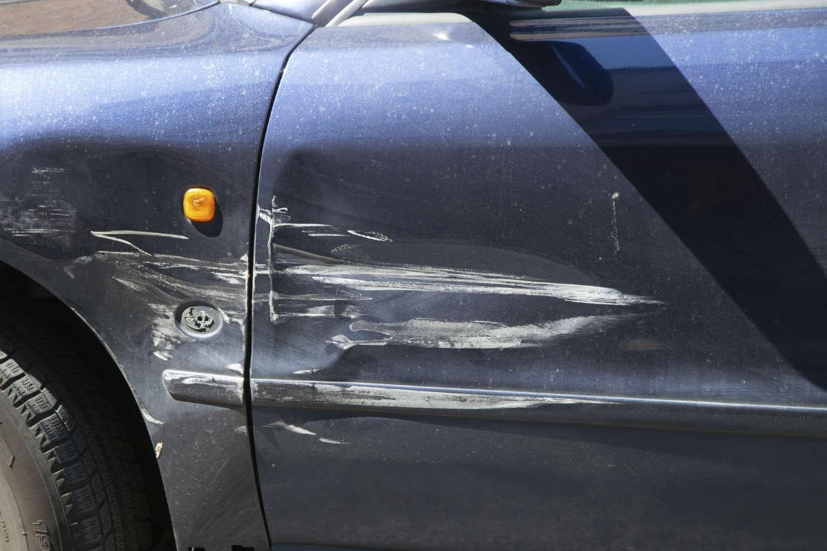 scratch on side of car