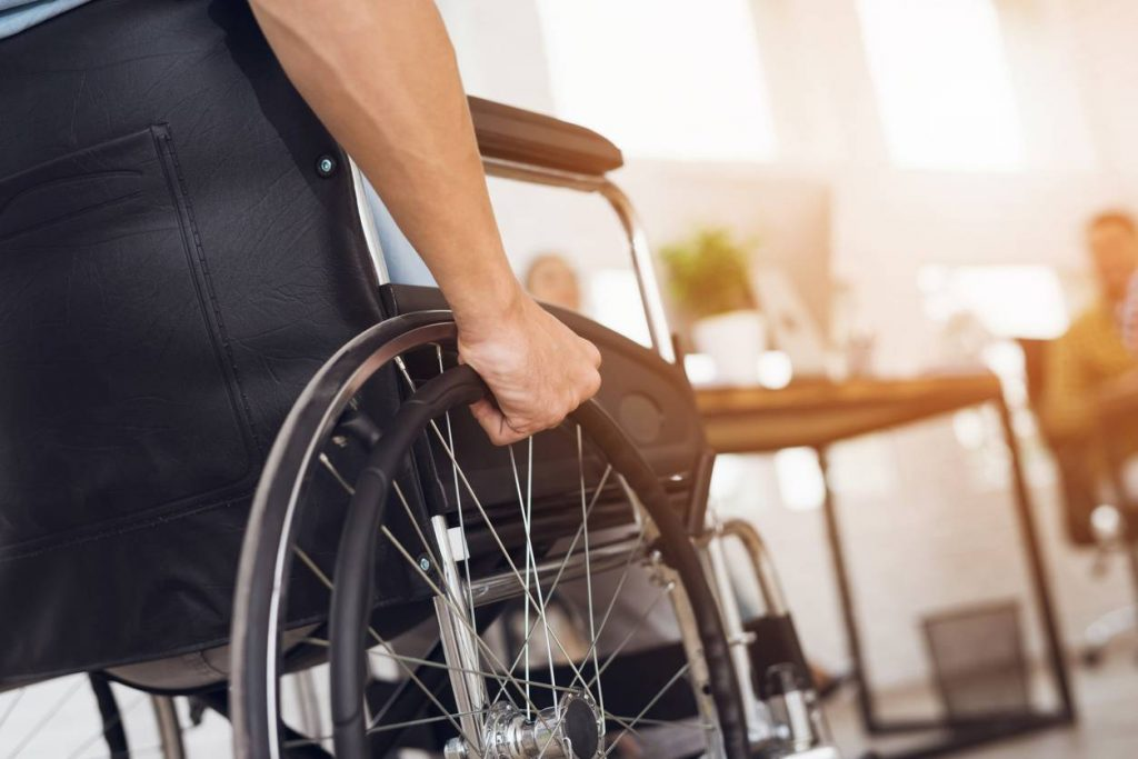 car accident injury victim in wheelchair