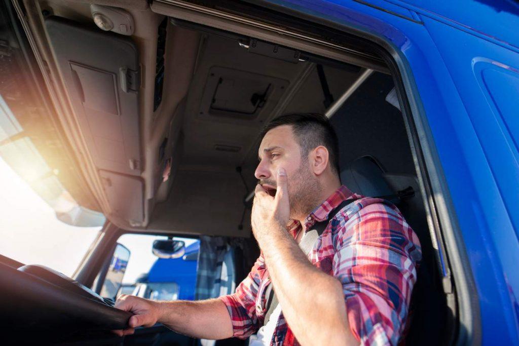 missouri truck driver yawning