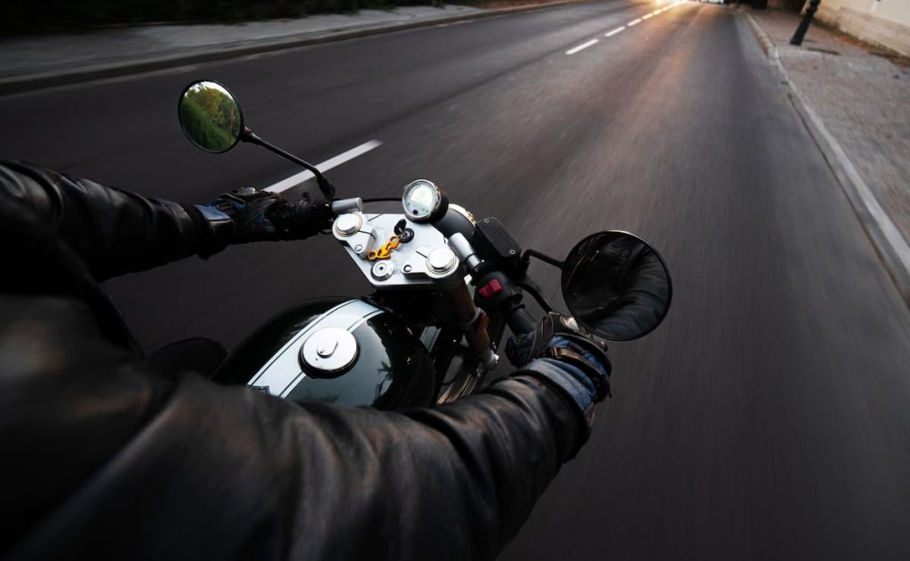 st. louis motorcyclist on the open road
