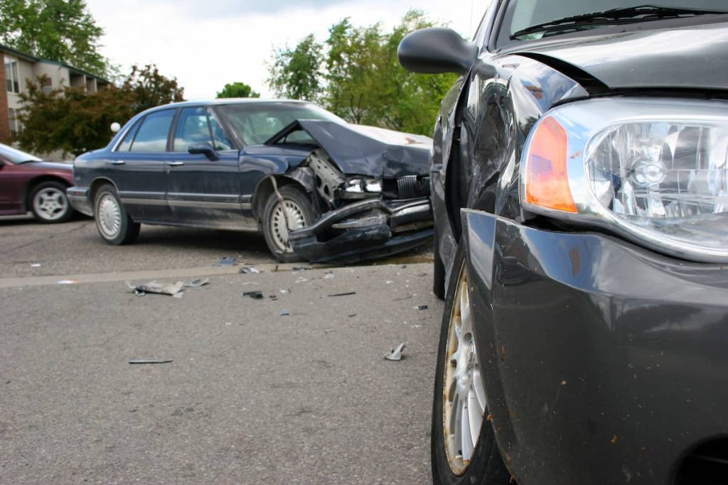 a car accident with a stolen vehicle